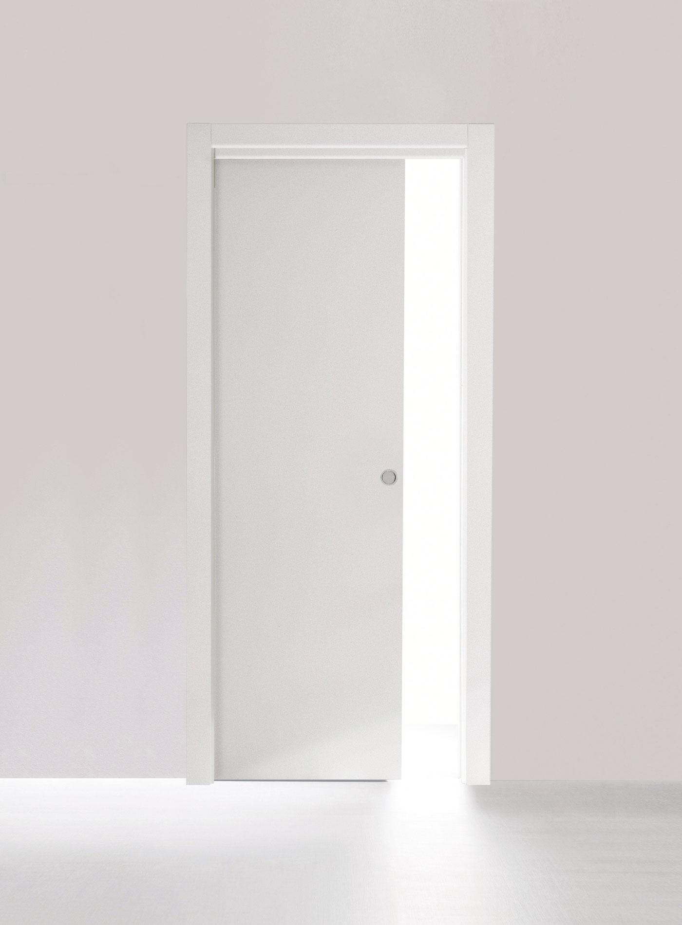 Sliding inside the wall door